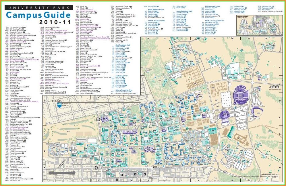 Penn State Behrend Map