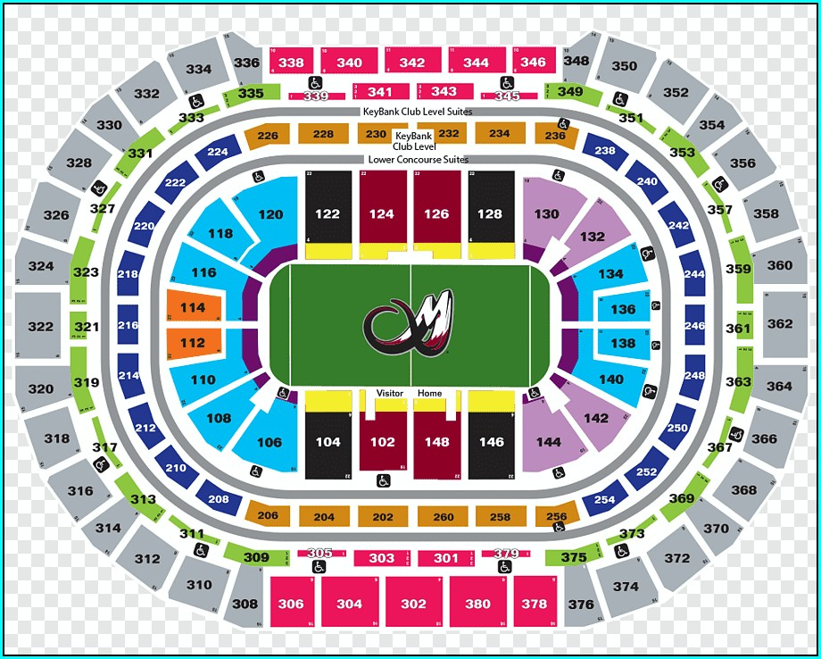 Pepsi Center Nuggets Seating Map
