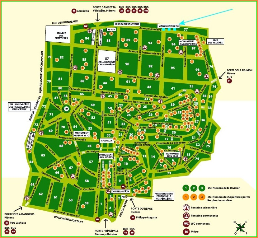 Pere Lachaise Map Pdf