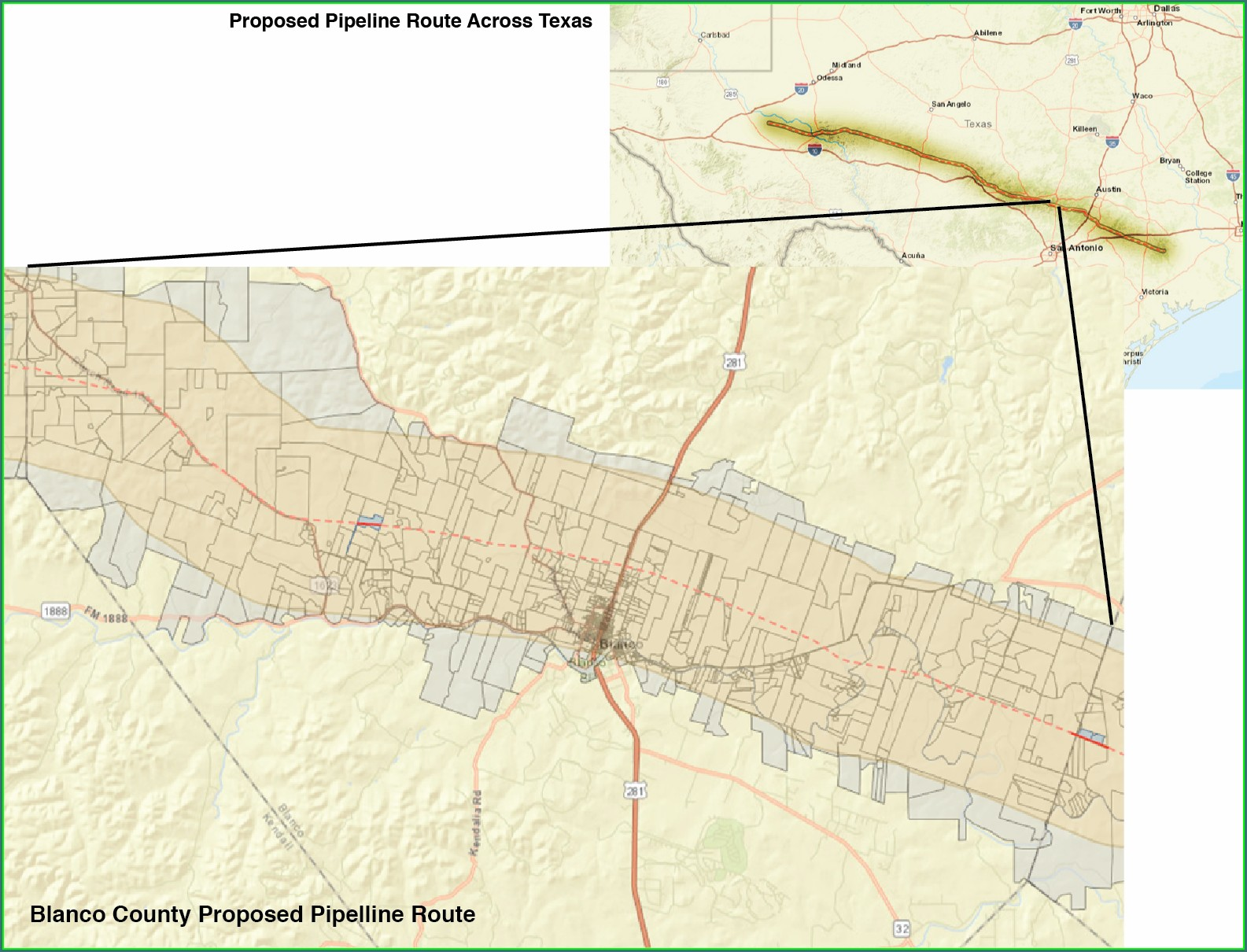 Permian Highway Pipeline Route Map