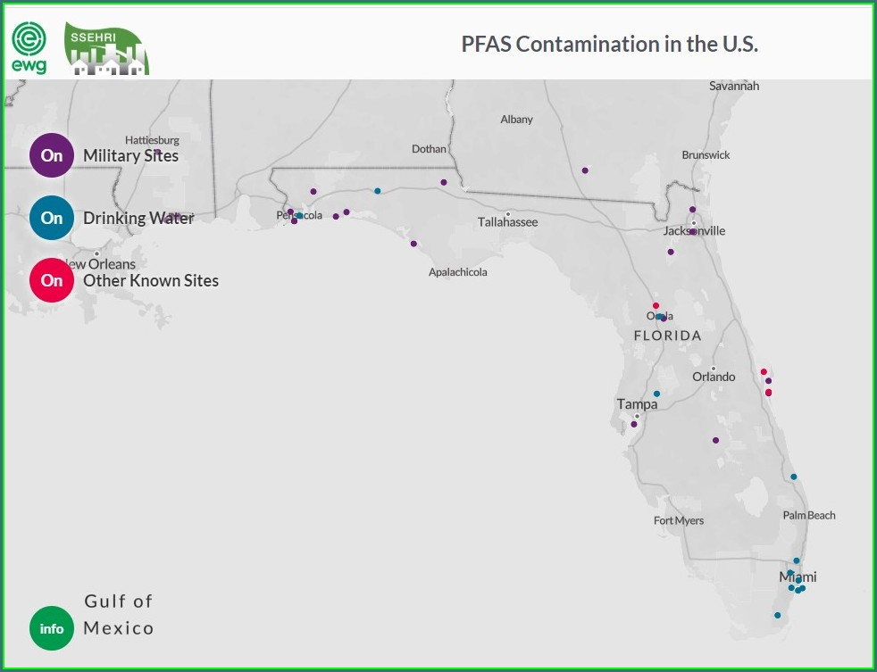 Pfas Contamination Map Florida