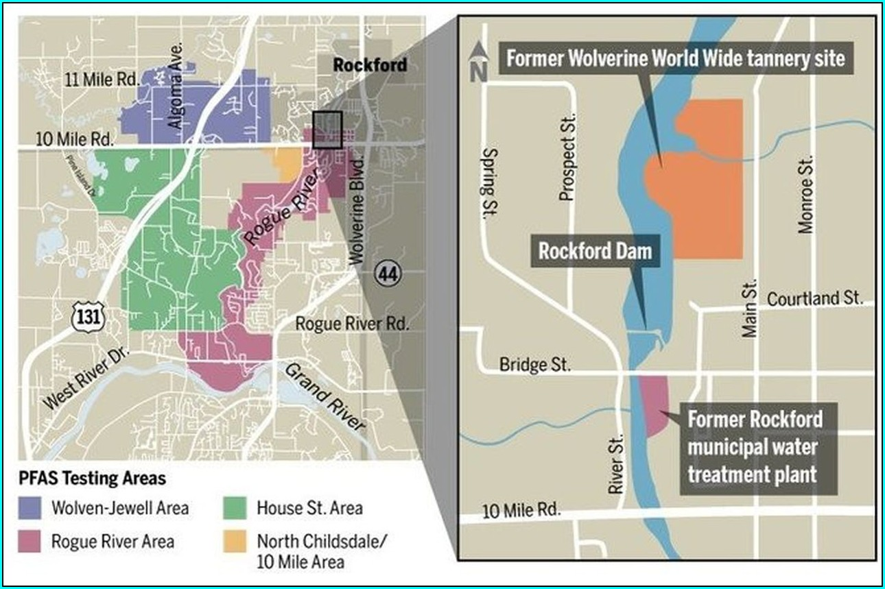 Pfas Contamination Map Rockford Mi