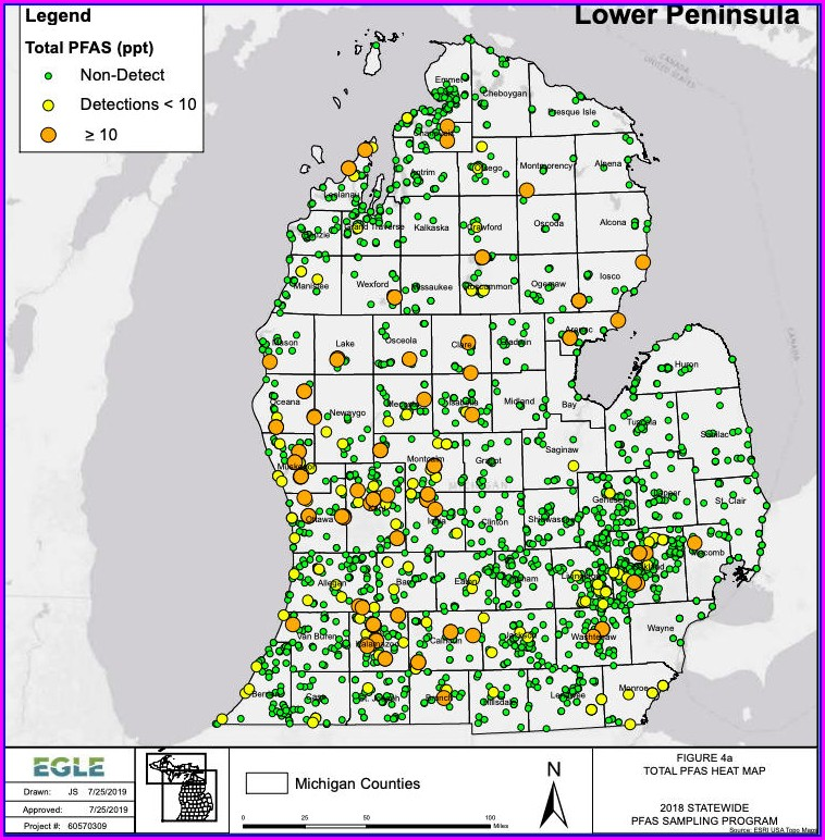 Pfas Michigan Map 2019