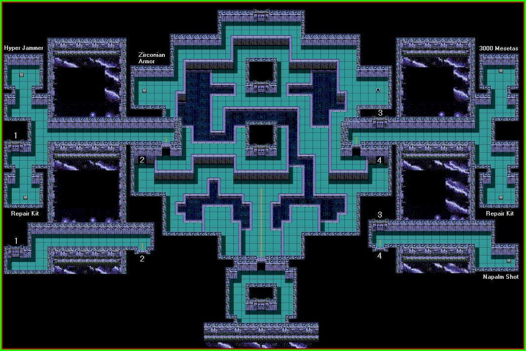 Phantasy Star 2 Dungeon Maps