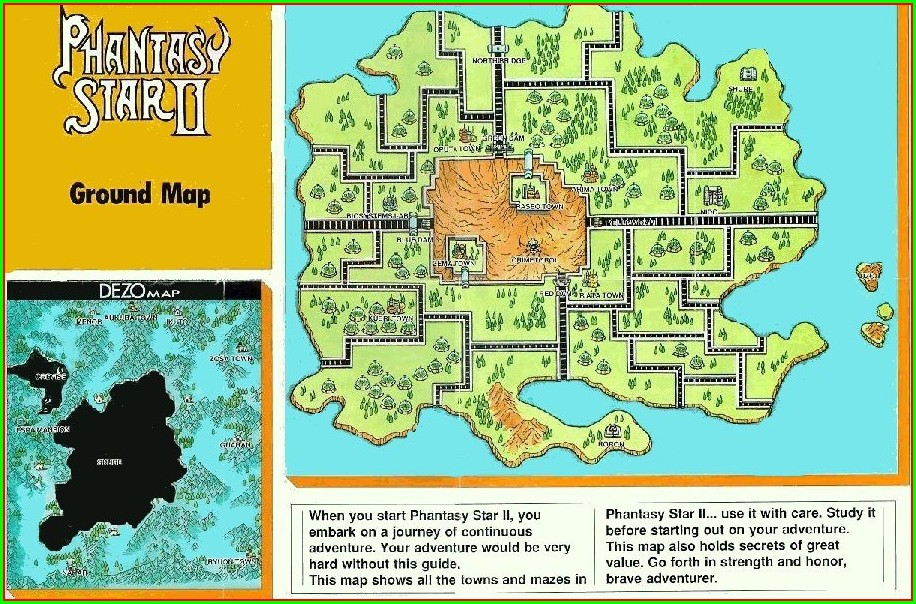 Phantasy Star 2 Maps