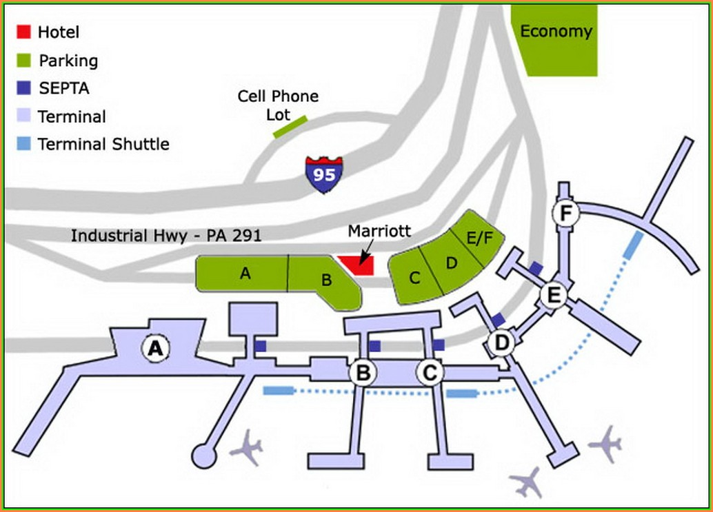 Philadelphia Airport Parking Map