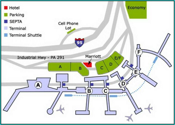 Philadelphia Airport Short Term Parking Map