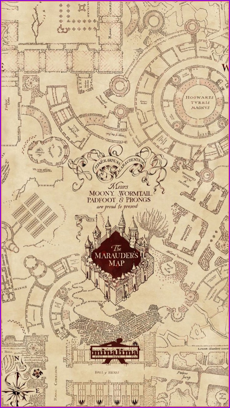 Phone Harry Potter Marauders Map Wallpaper