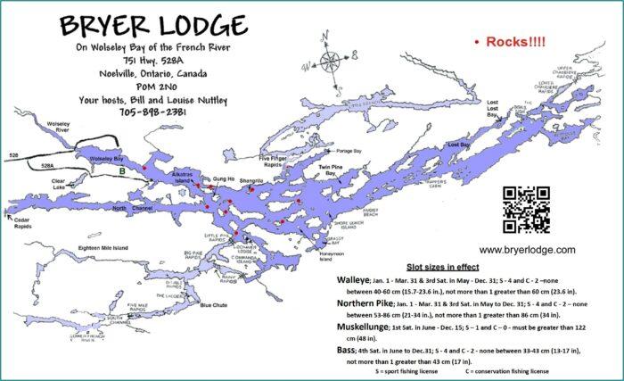 Pickerel River Fishing Map
