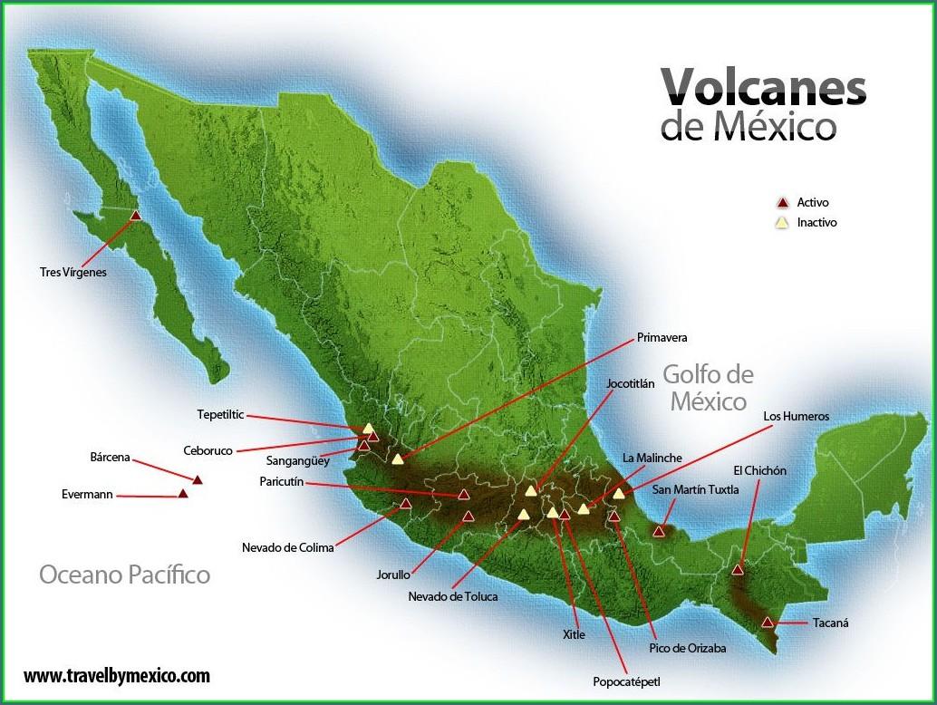 Pico De Orizaba Mapa De Mexico