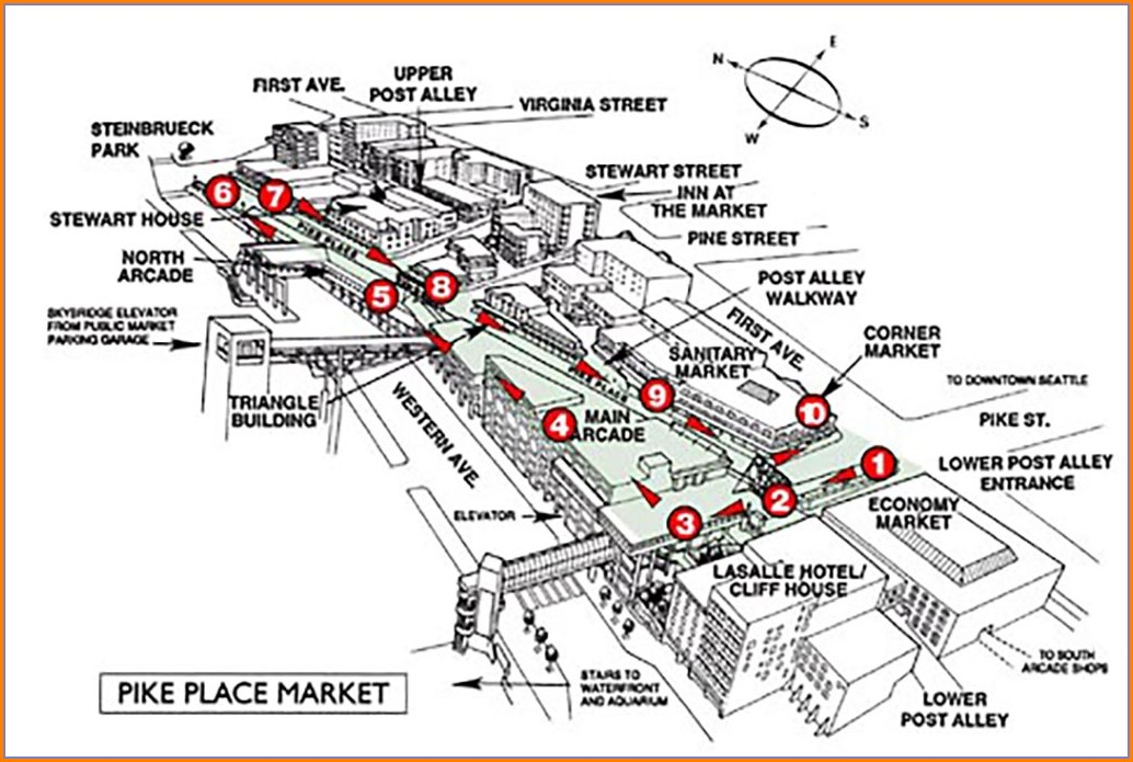 Pikes Place Market Map