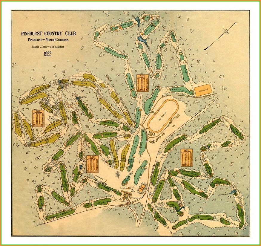 Pinehurst Golf Courses Map