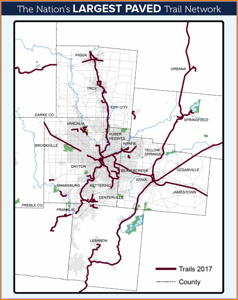 Piqua Ohio Bike Path Map