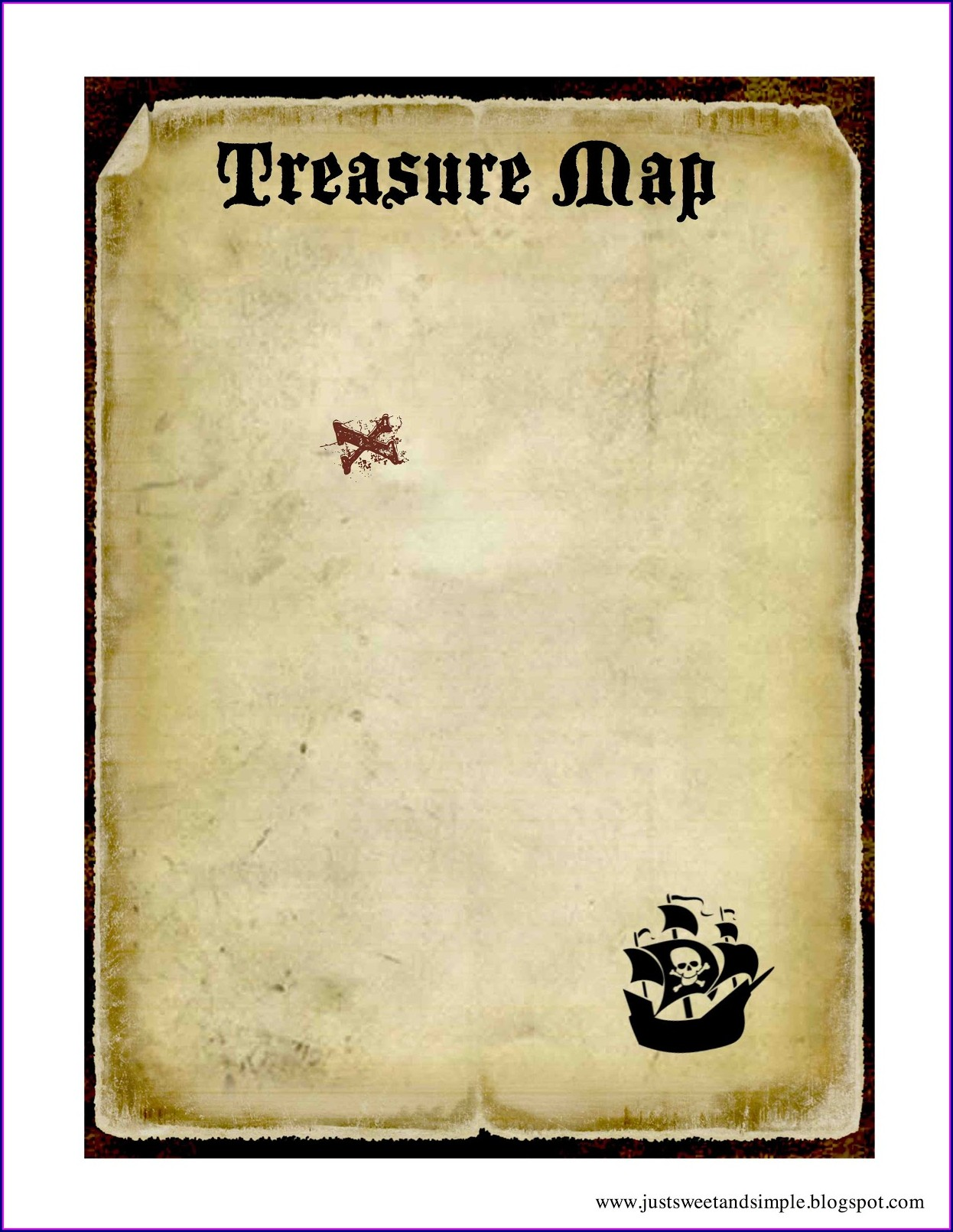 Pirate Map Template Printable Free