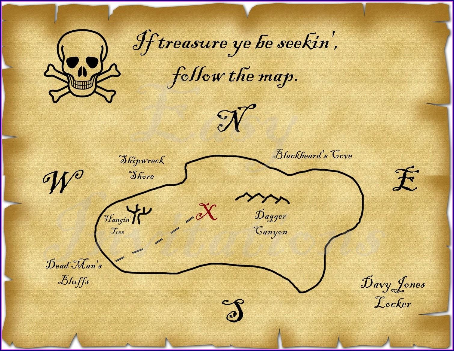 Pirate Treasure Map Template Printable