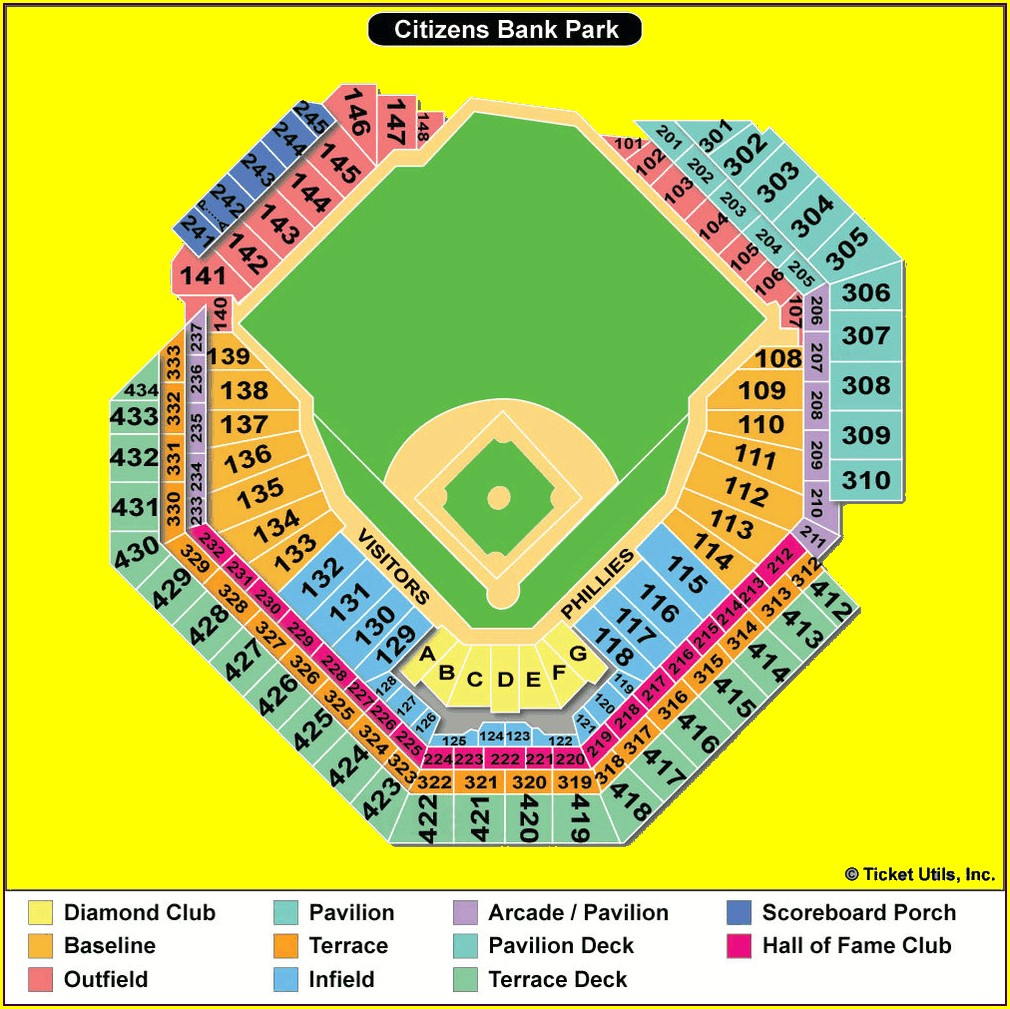 Pnc Bank Arts Center Seating Map