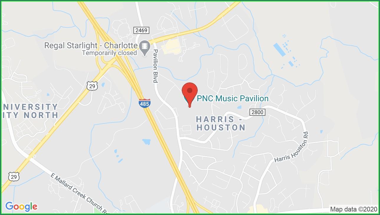 Pnc Pavilion Charlotte Map
