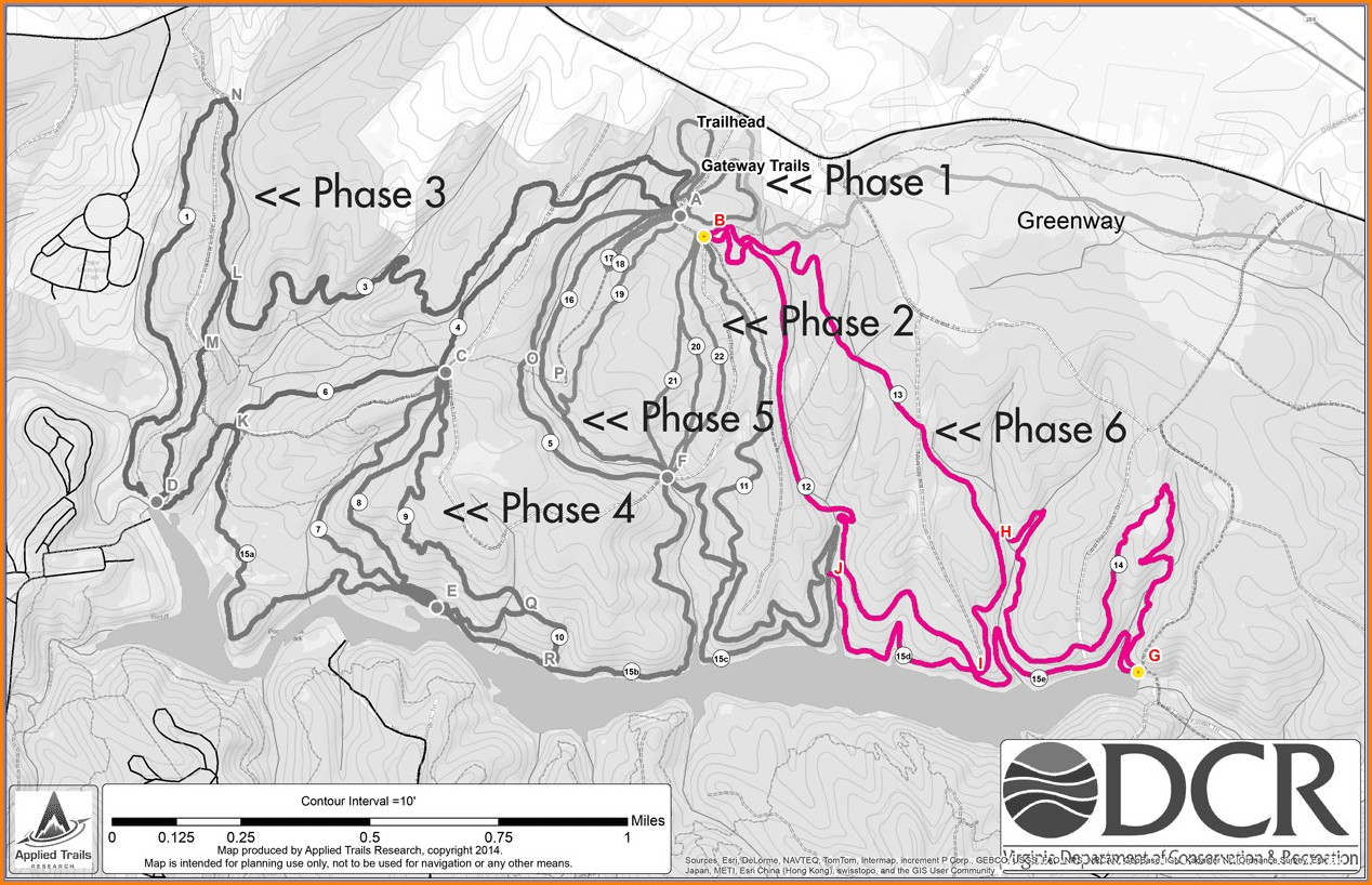 Pocahontas Park Trail Map