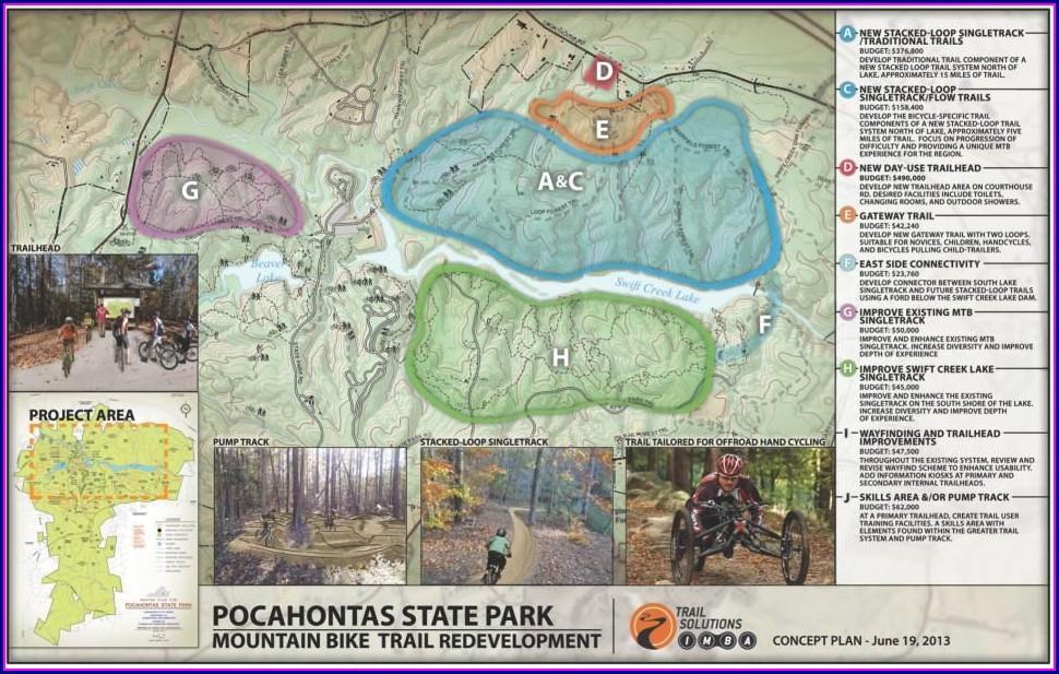 Pocahontas State Park Bike Trail Map
