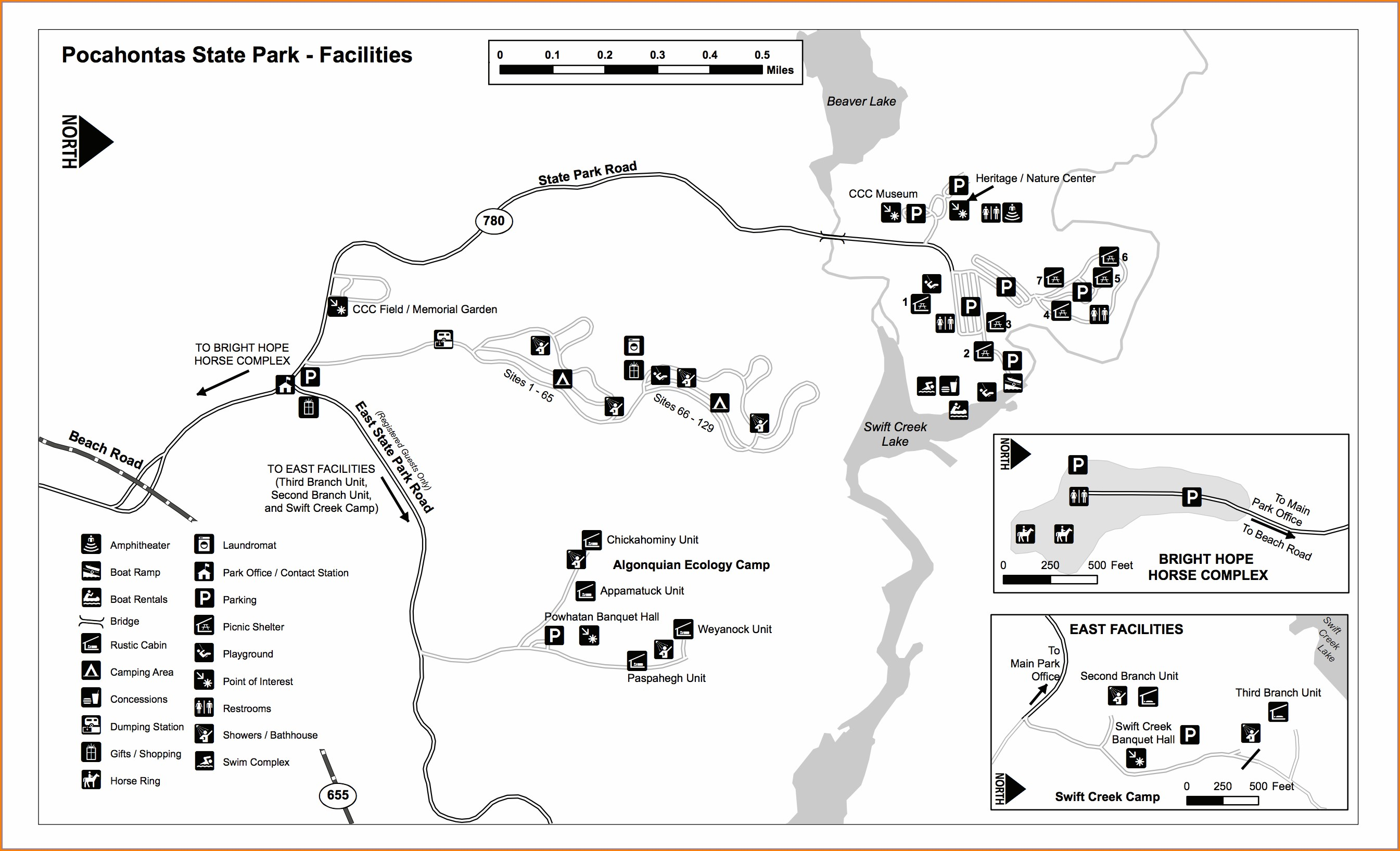 Pocahontas State Park Trail Map