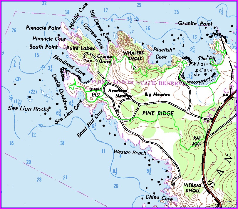 Point Lobos Hiking Trail Map