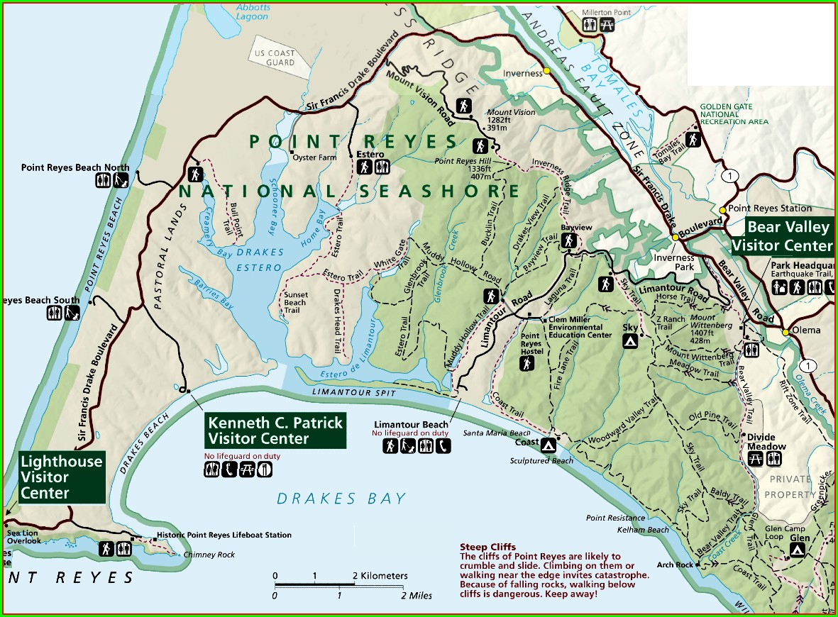 Point Reyes National Seashore Campground Map