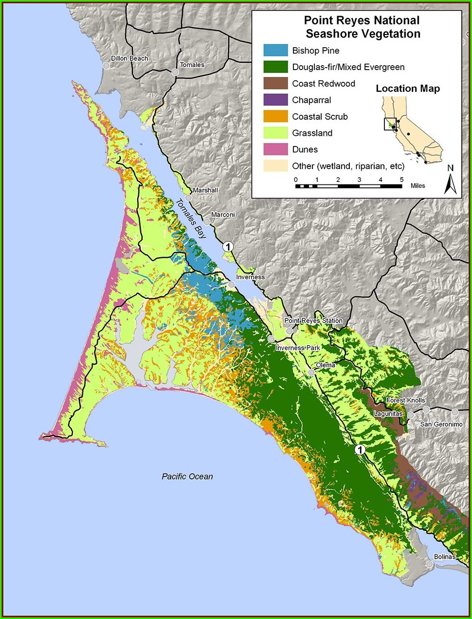 Point Reyes National Seashore Map Pdf