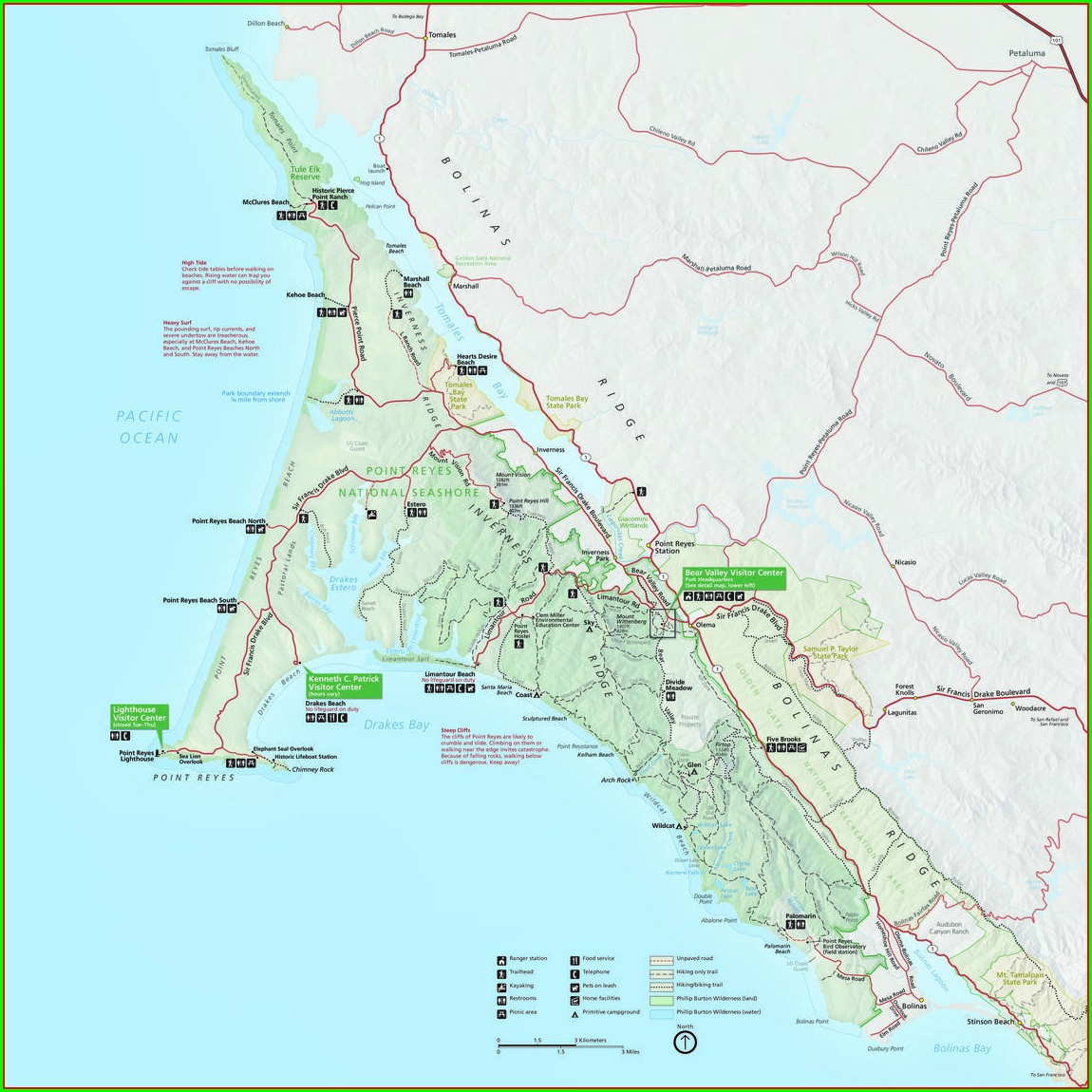 Point Reyes National Seashore Map