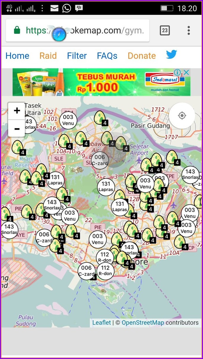 Pokemon Go Singapore Map