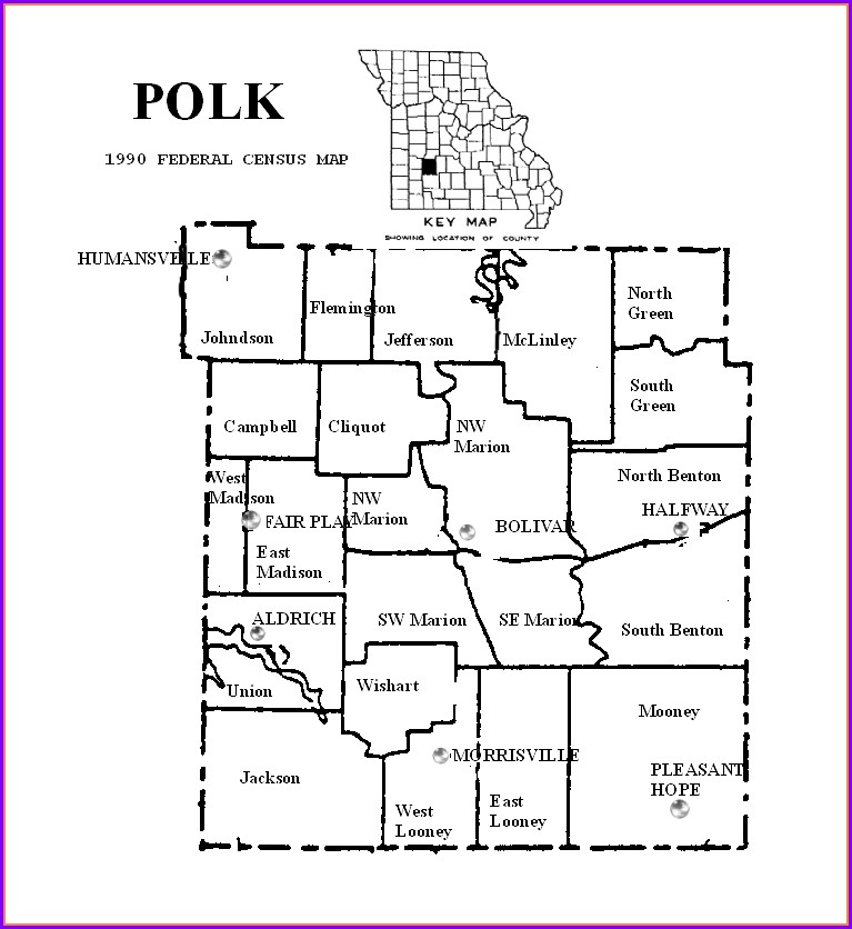 Polk County Plat Map Wi