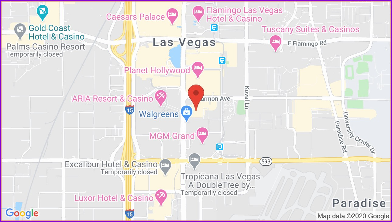 Polo Towers Las Vegas Map