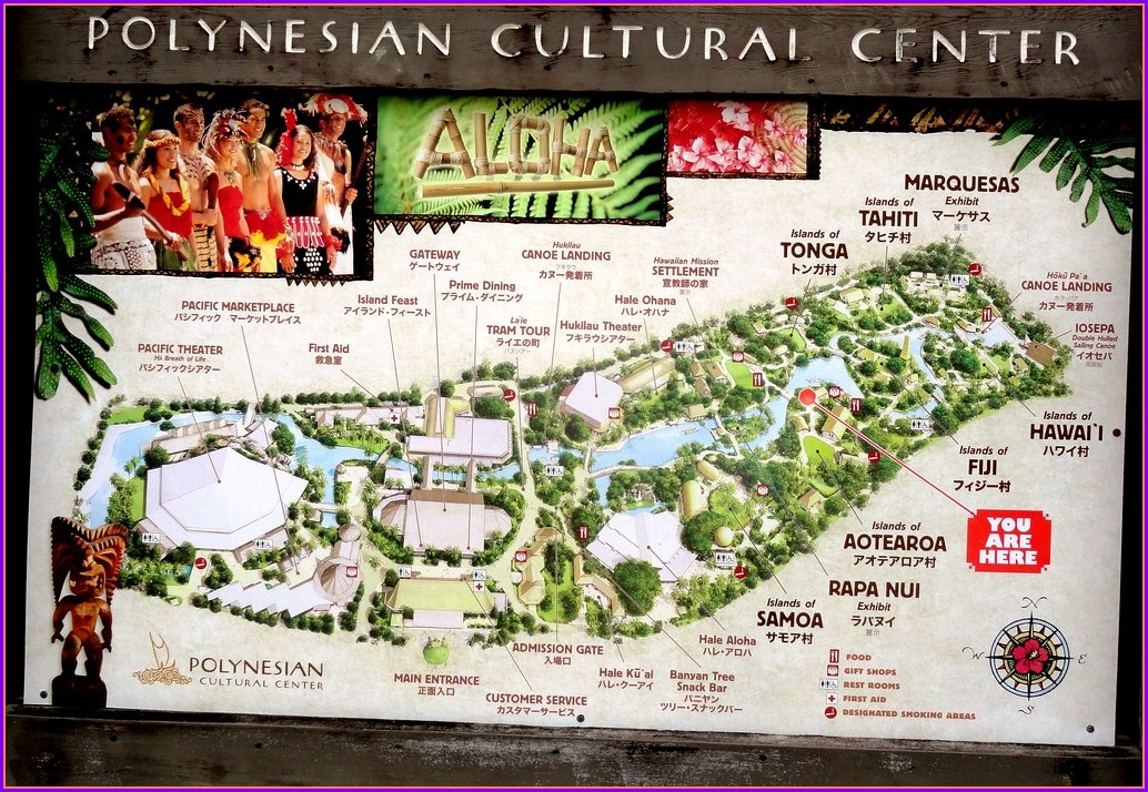 Polynesian Cultural Center Map
