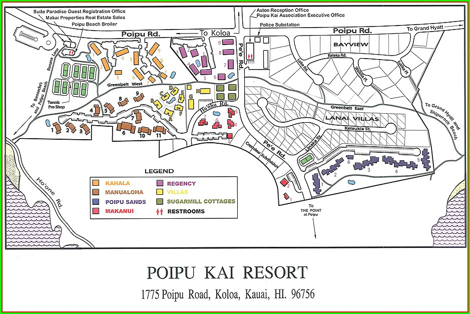 Pono Kai Resort Map