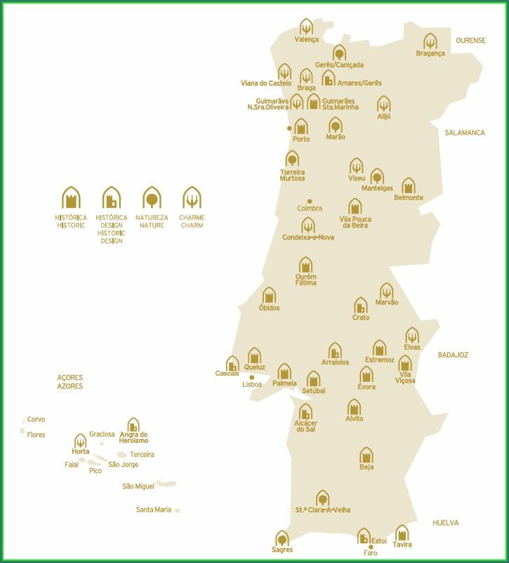 Pousadas Da Juventude Portugal Mapa