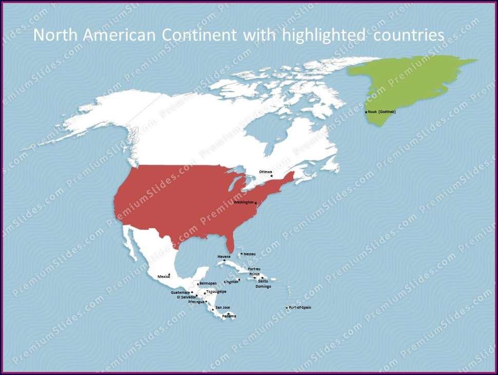 Powerpoint Editable Map Of North America