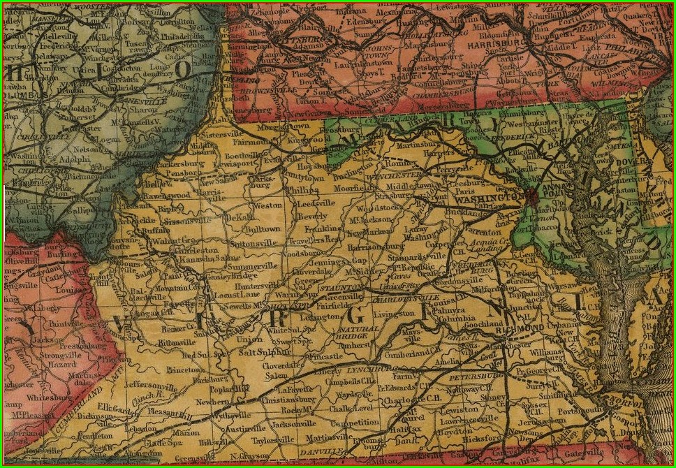 Pre Civil War Virginia Map