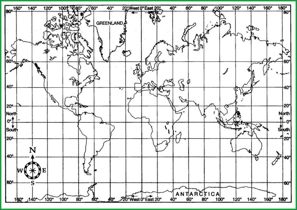 Printable Blank World Map With Latitude And Longitude Pdf