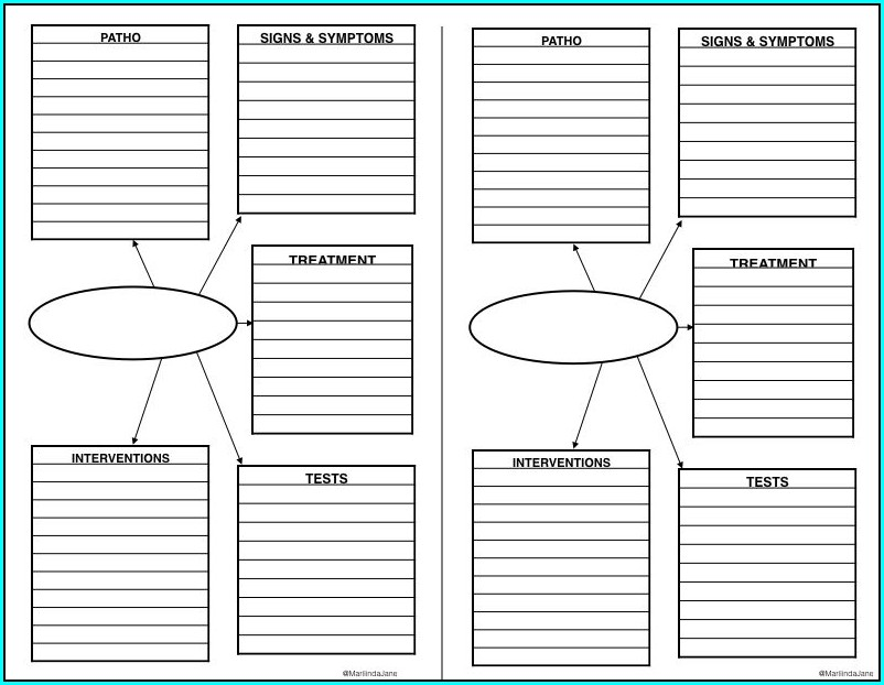 Printable Free Nursing Concept Map Template Microsoft Word