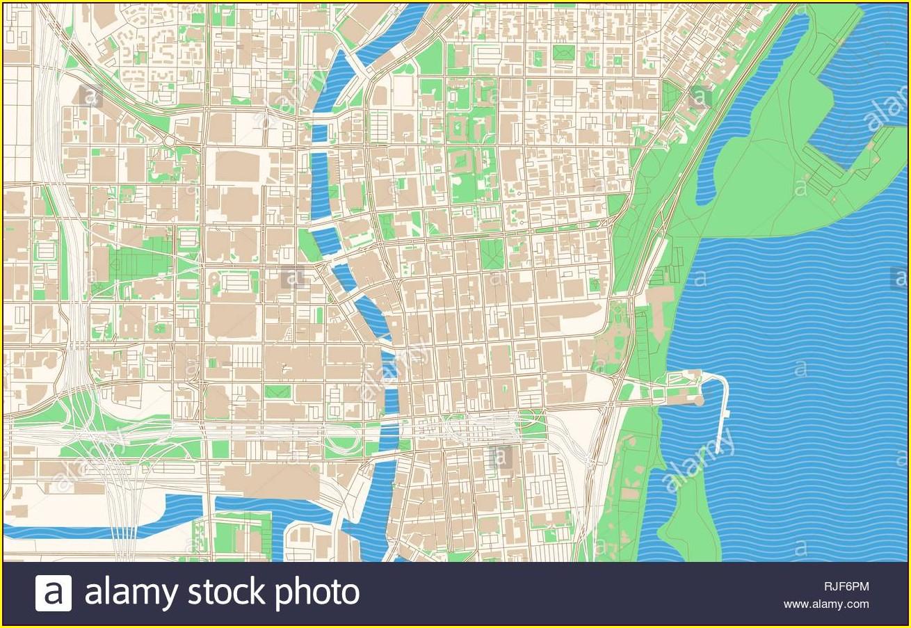 Printable Map Of Downtown Milwaukee