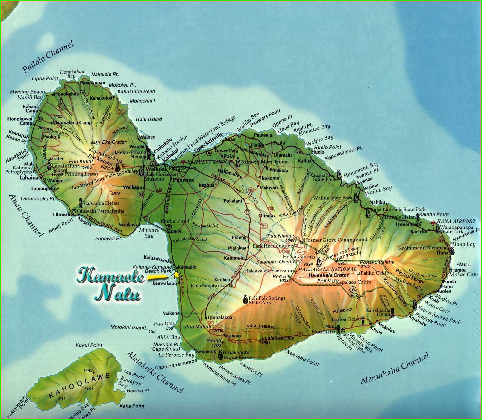 Printable Map Of Maui Hawaii