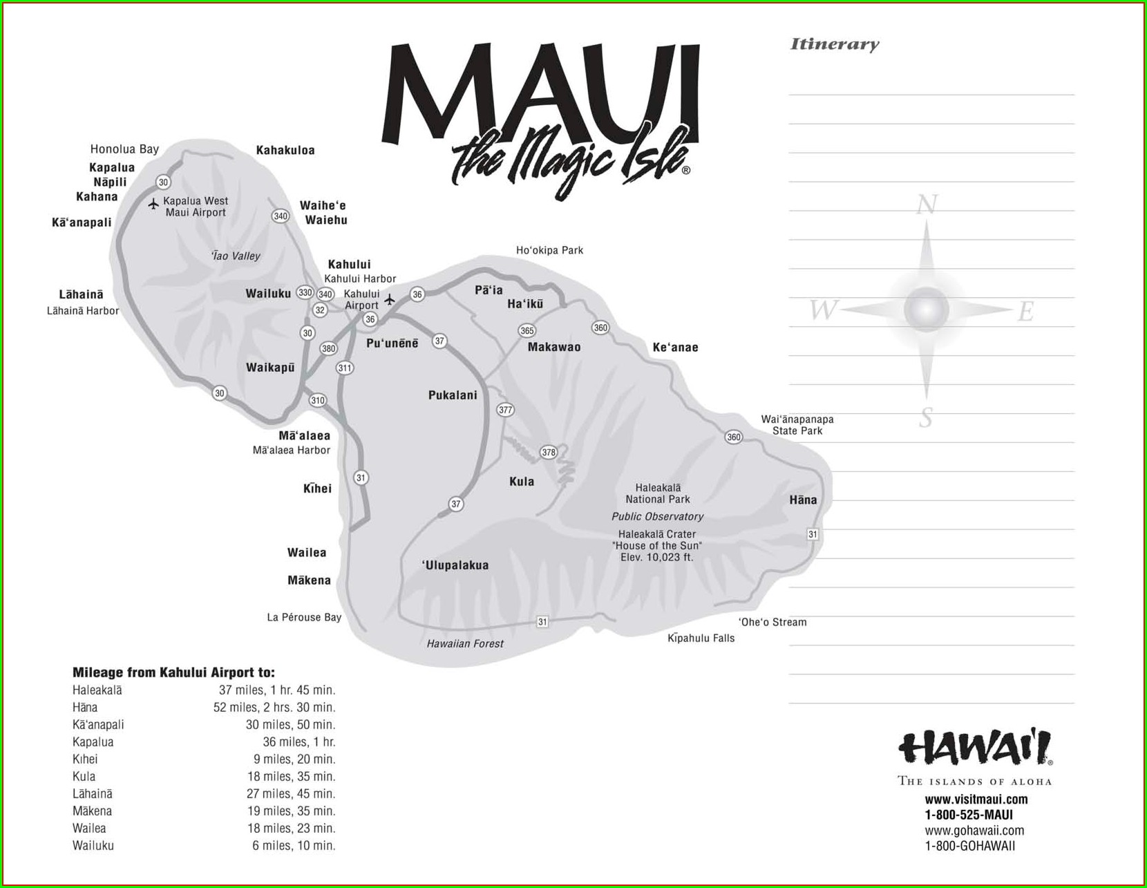 Printable Map Of Maui