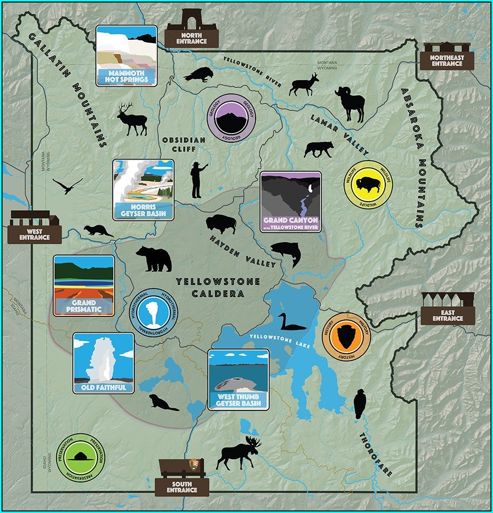 Printable Maps Of Yellowstone National Park