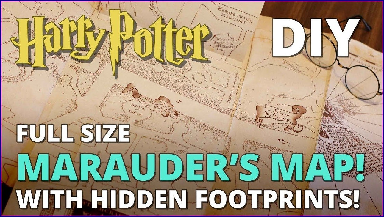 Printable Muggle Magic Marauders Map Templates