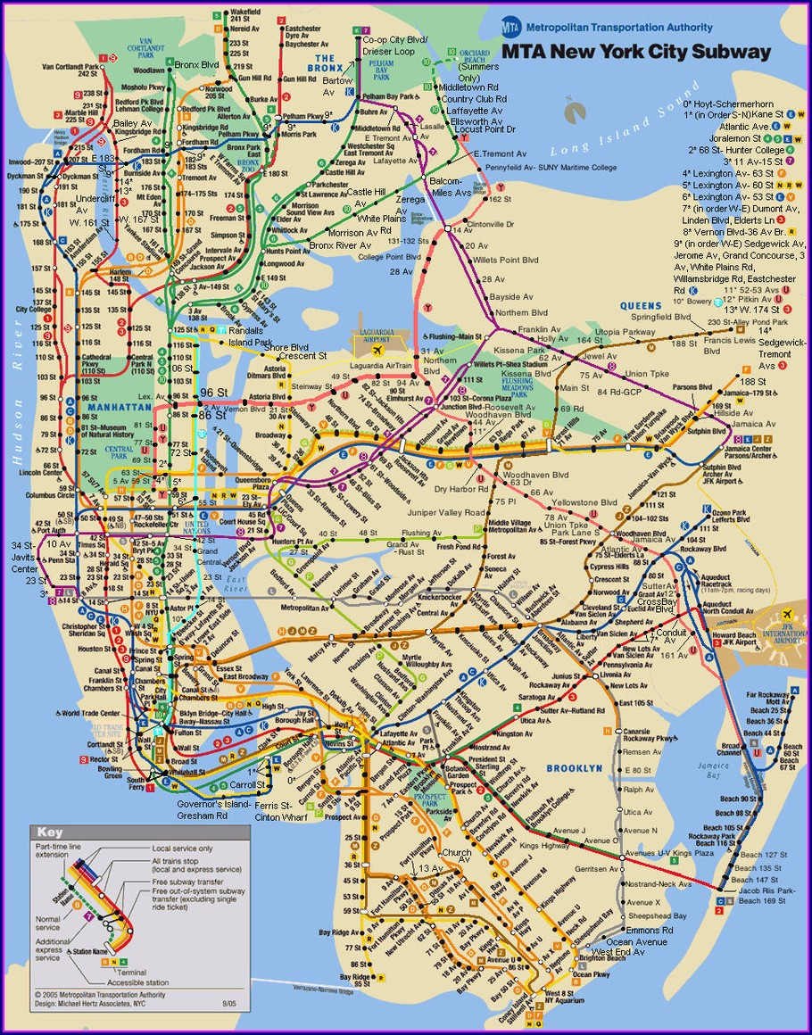 Printable Nyc Subway Map 2018