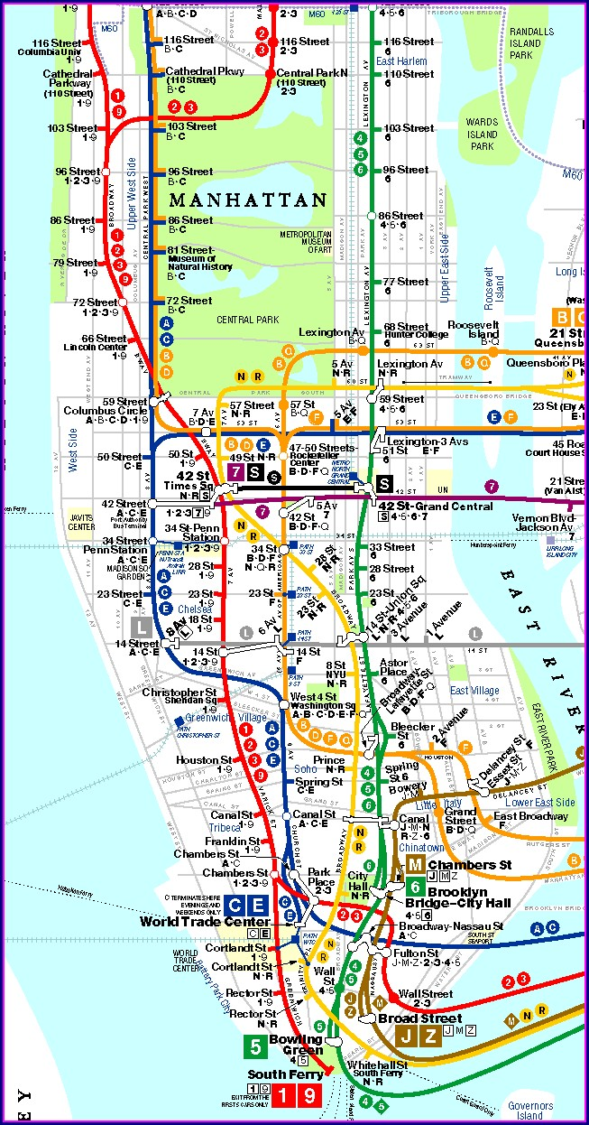 Printable Nyc Subway Map 2019