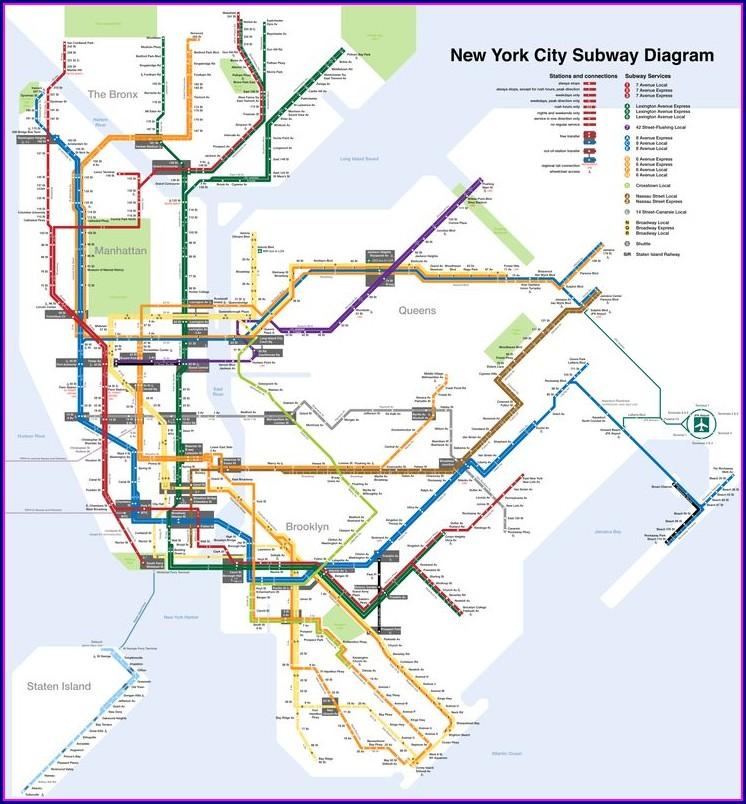 Printable Nyc Subway Map