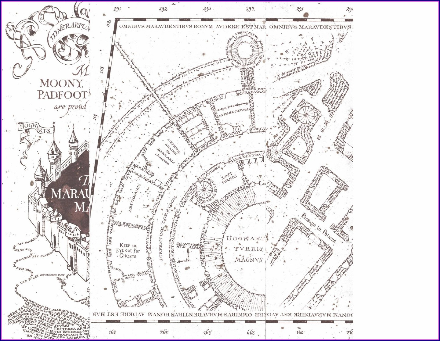 Printable White Marauders Map Pdf