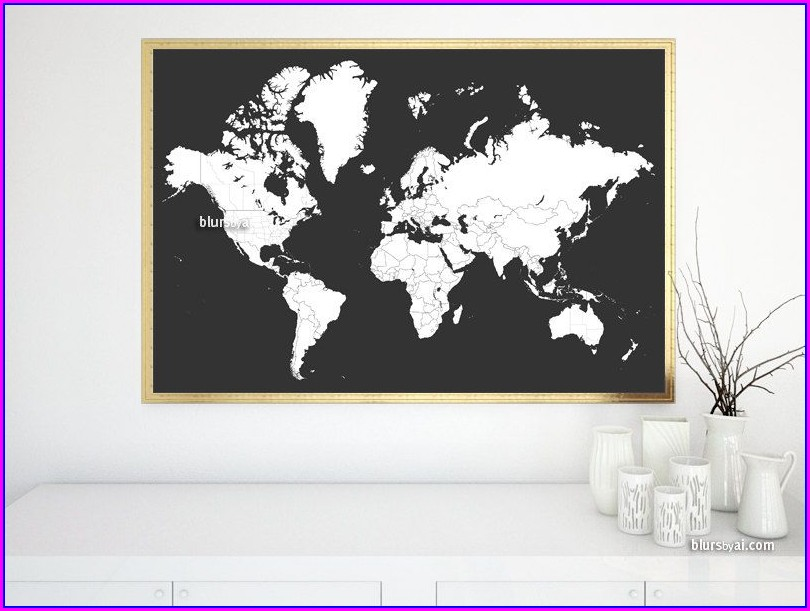 Printable World Map With Countries For Kids