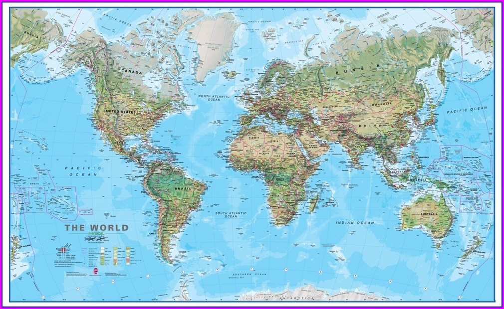 Printable World Map With Countries Pdf