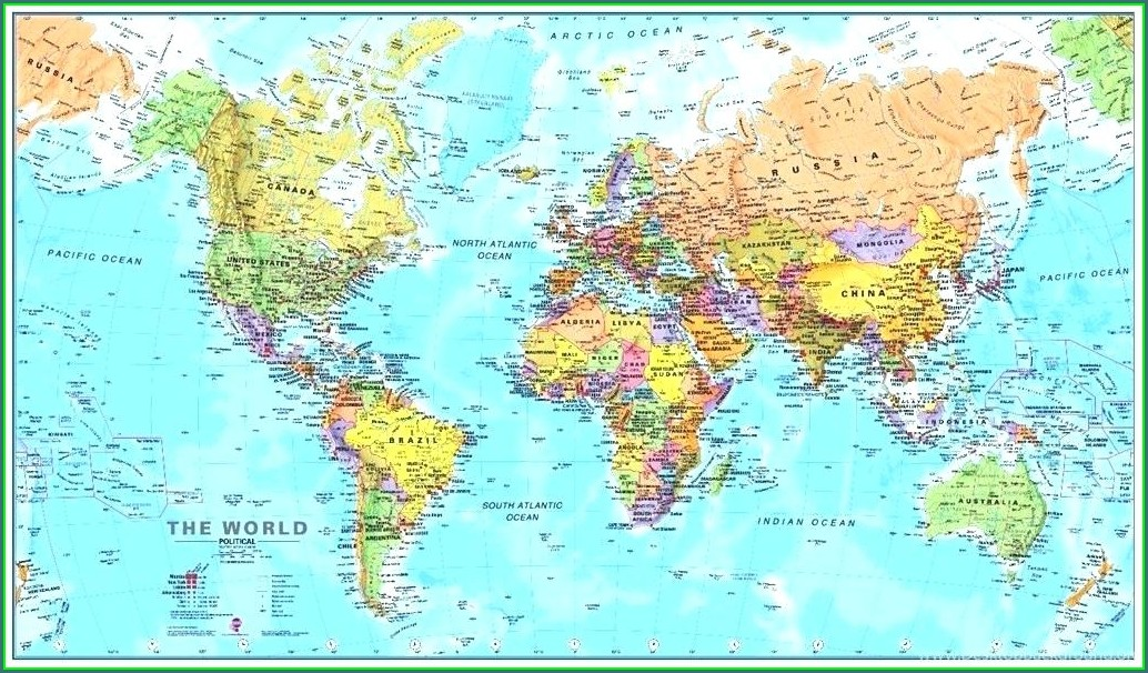 Printable World Map With Latitude And Longitude Pdf